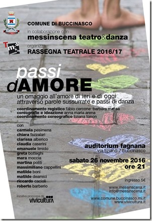 PASSI D'AMORE - manifesto MR