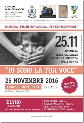 Volantino - Concerto _Io sono la tua voce_ 3